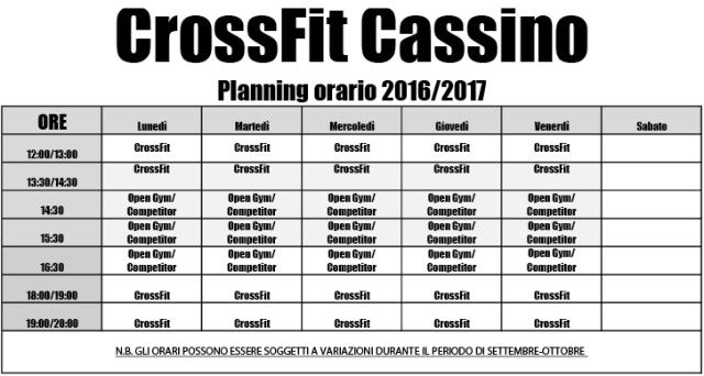 PLANNING ORARIO 2016-2017